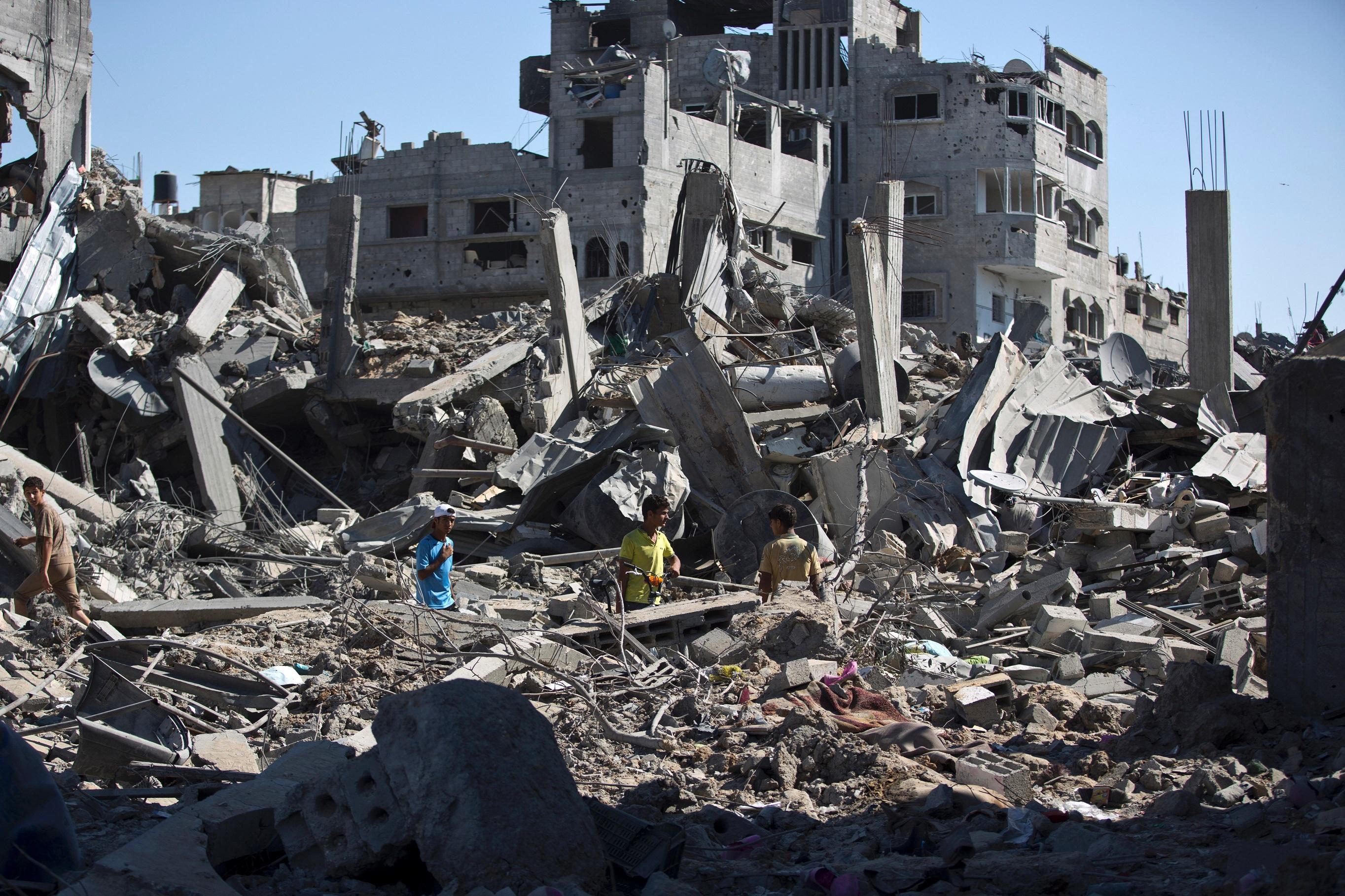 Gaza la d solation de la ville d 39 al shejaiya vue du for Ville du 51