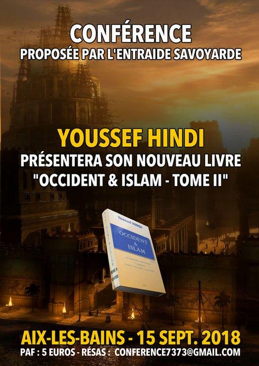 Occident Islam Tome Ii Conference De Youssef Hindi A Aix Les