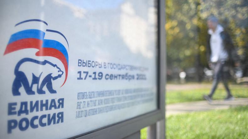 Russie : le parti de Vladimir Poutine arrive en tête des législatives