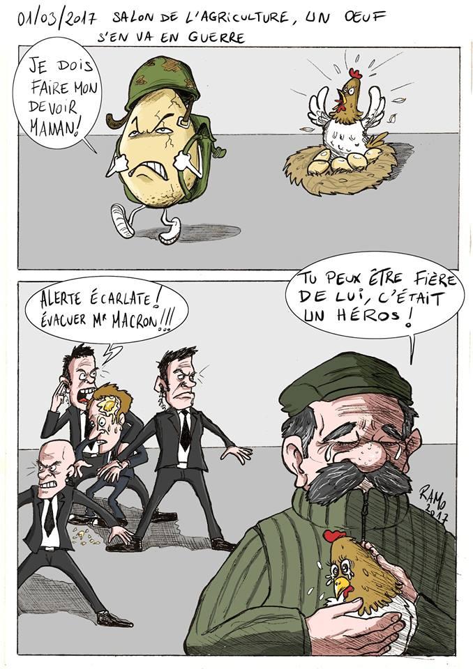 Les dessins de la semaine egalite et r conciliation for Macron salon agriculture oeuf