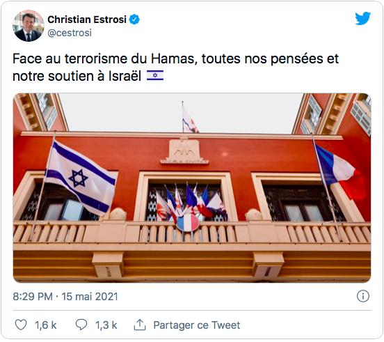 Fidèle à son employeur, Estrosi érige le drapeau d'Israël sur le fronton de la mairie de Nice