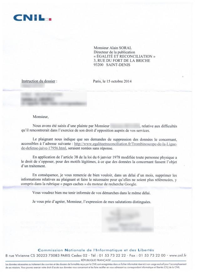 La CNIL met E&R en demeure de supprimer des informations sur un ...