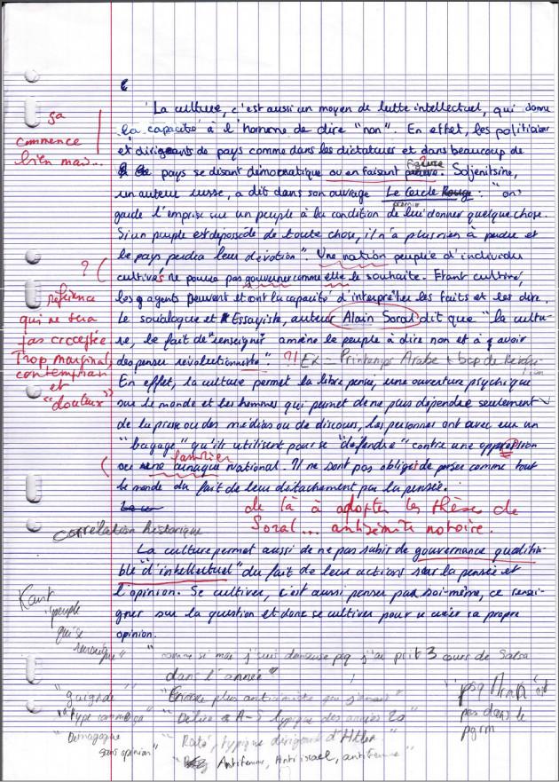 sujet dissertation francais bac