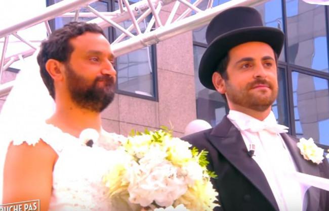 Le faux mariage gay de Cyril Hanouna et son larbin Camille Combal (en 2015)