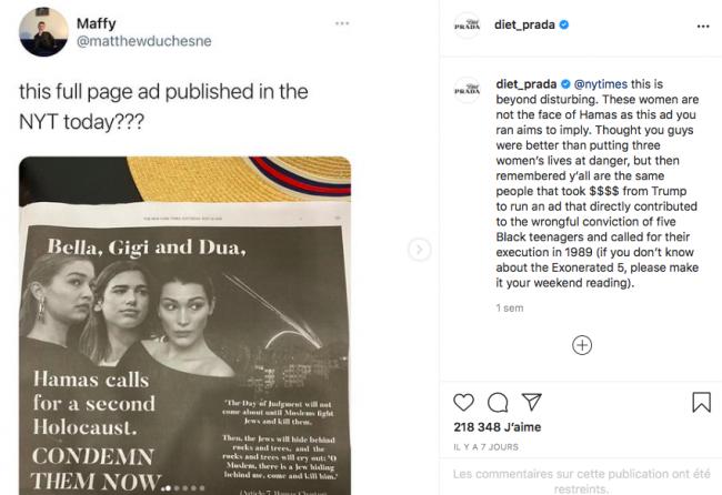 Le soutien de Bella Hadid à la Palestine peut-il lui coûter sa carrière ?