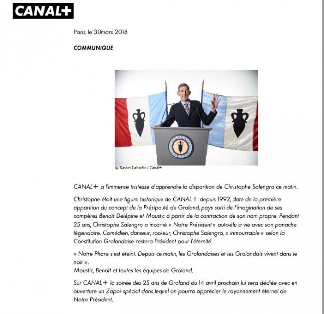 Christophe Salengro President A Vie De La Presipaute De